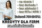 NAJLEPSZA oferta KREDYTU dla FIRM na OŚWIADCZENIE! 30 000 zł bez PITu i KPiR!